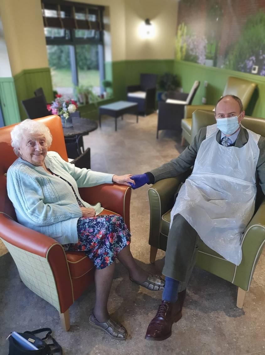 Visiting at Layston Grove Care Home